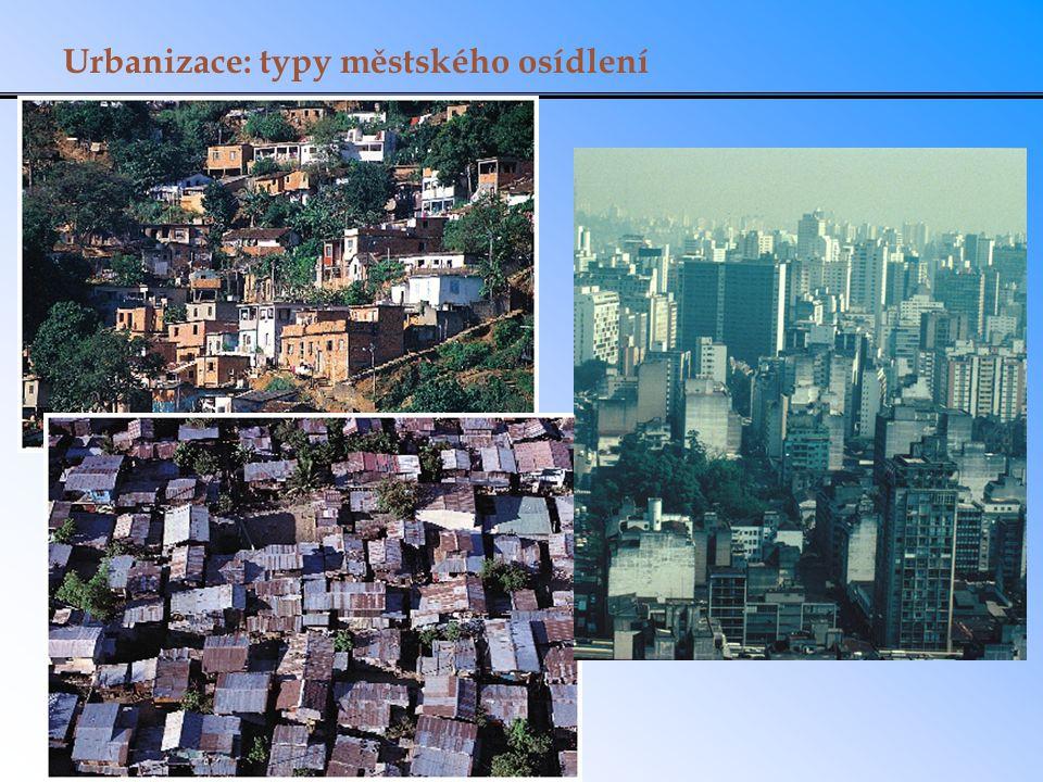 Urbanizace: typy městského osídlení