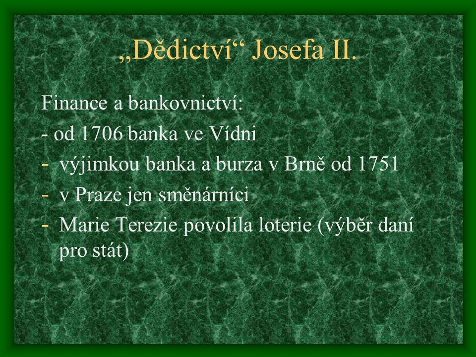 """""""Dědictví Josefa II."""