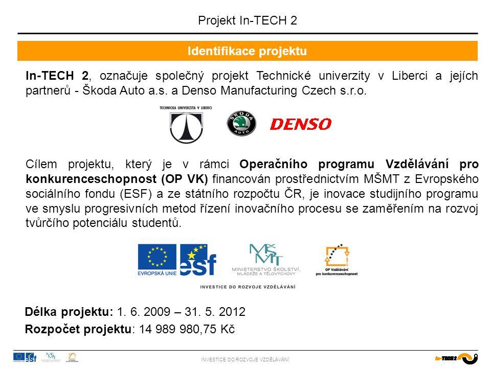 Název přednášky/cvičení Další rozvoj a inovace výuky na TUL INVESTICE DO ROZVOJE VZDĚLÁVÁNÍ 2006 - 2008 2009 - 2012