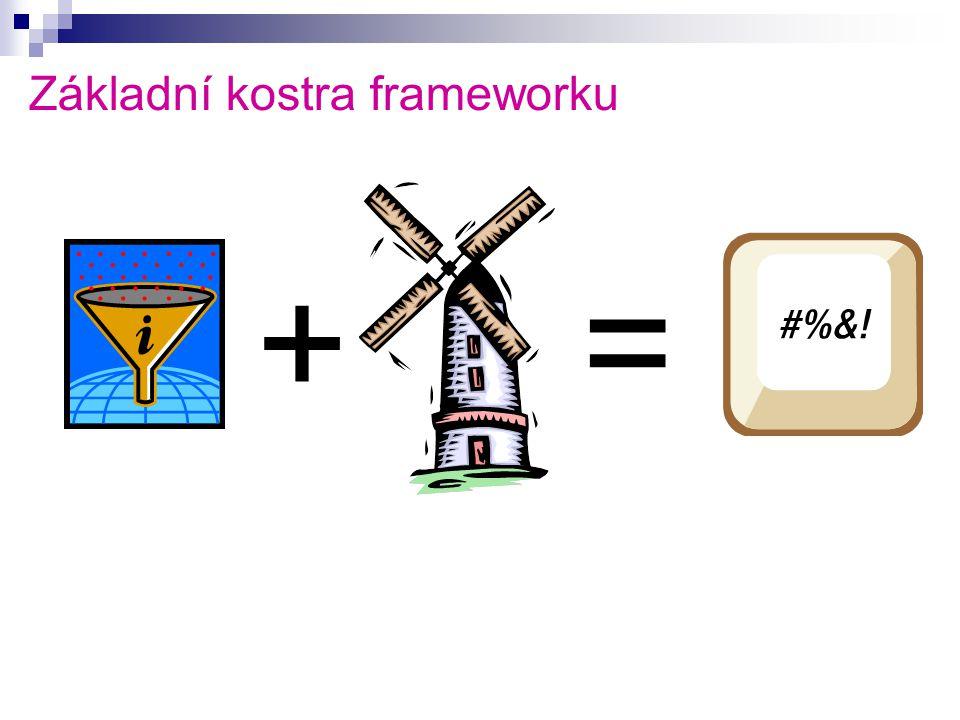 Základní kostra frameworku +=