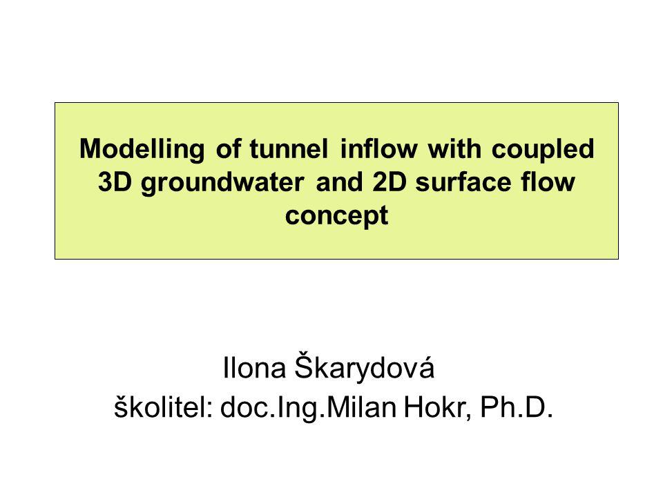 Lokalita bedřichovského tunelu – motivace hydrogeologický model bedřichovského tunelu (sdružená úloha podzemního a povrchového proudění) možnost porovnání s naměřenými daty z lokality (přítoky do tunelu) Bedřichovský tunel motivace: projekt Decovalex (simulace T-H-M-C procesů za účelem analýzy hlubinného úložiště) – bedřichovský tunel – analogie lokality hlubinného úložiště z hlediska přírodních podmínek – jedna z modelových testovacích úloh projektu