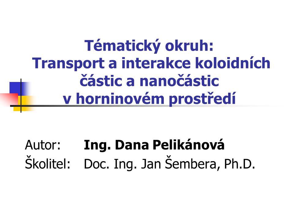 Tématický okruh: Transport a interakce koloidních částic a nanočástic v horninovém prostředí Autor: Ing.