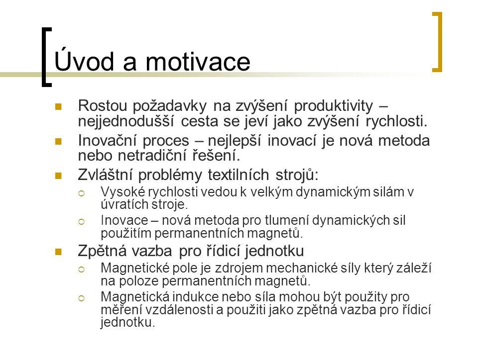 Úvod a motivace Rostou požadavky na zvýšení produktivity – nejjednodušší cesta se jeví jako zvýšení rychlosti.