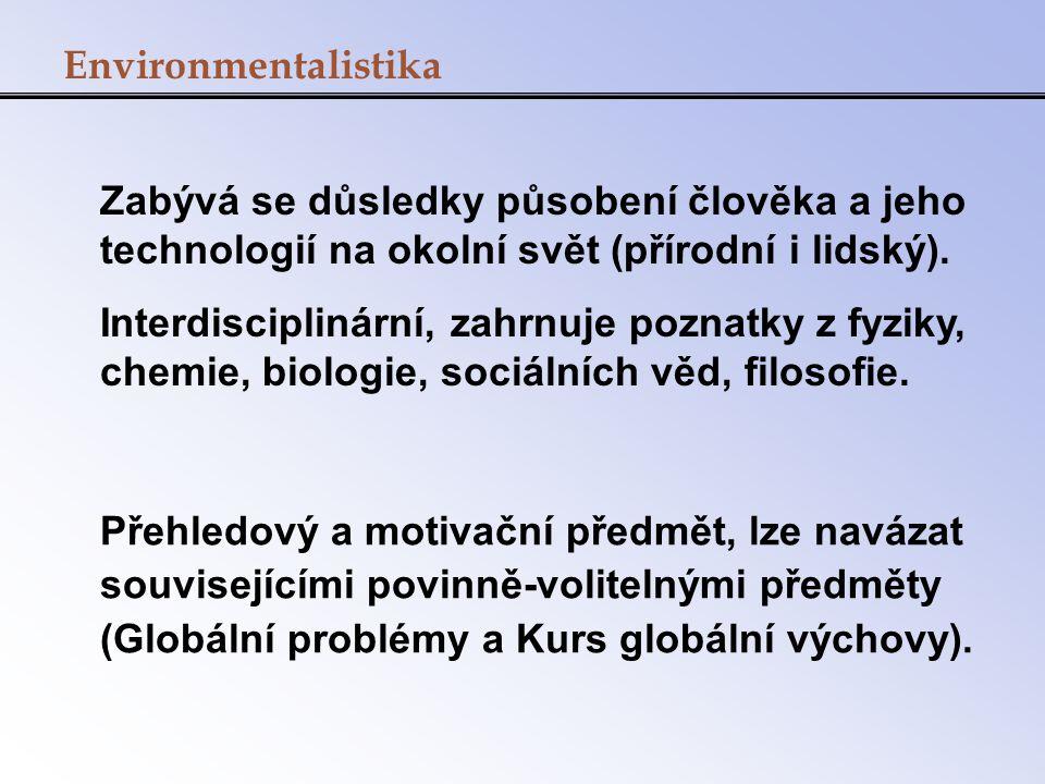 Sylabus 13.2.Vztah civilizace a životního prostředí v historii 27.2.