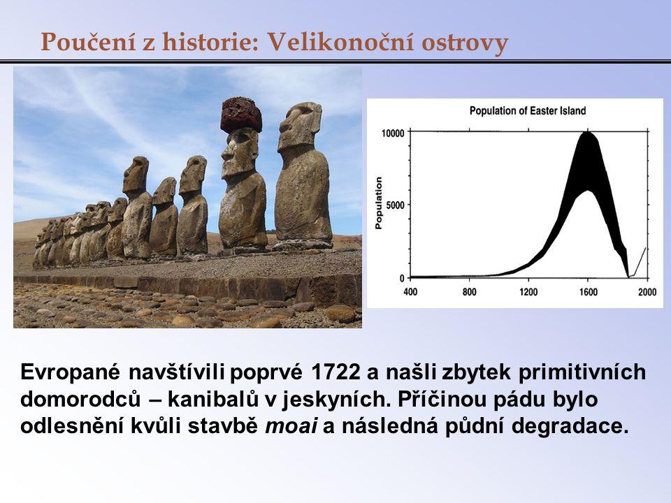 Poučení z historie: Velikonoční ostrovy Evropané navštívili poprvé 1722 a našli zbytek primitivních domorodců – kanibalů v jeskyních. Příčinou pádu by