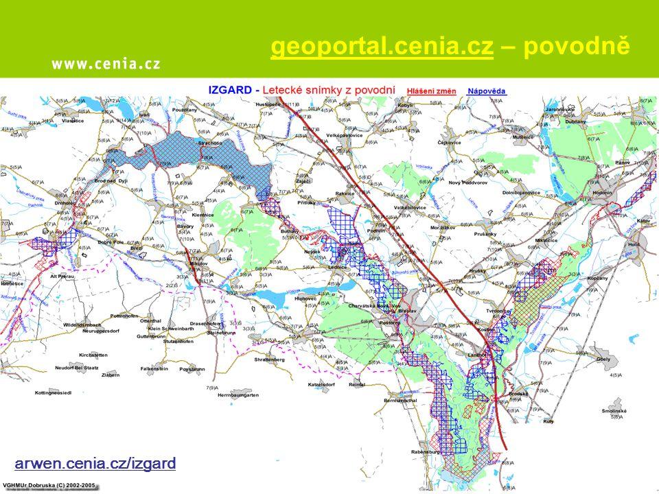 geoportal.cenia.cz – povodně arwen.cenia.cz/izgard