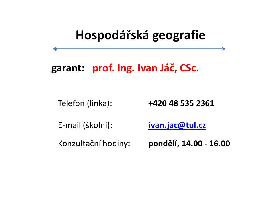 garant: prof.Ing. Ivan Jáč, CSc.
