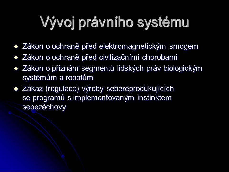 Vývoj právního systému Zákon o ochraně před elektromagnetickým smogem Zákon o ochraně před elektromagnetickým smogem Zákon o ochraně před civilizačním