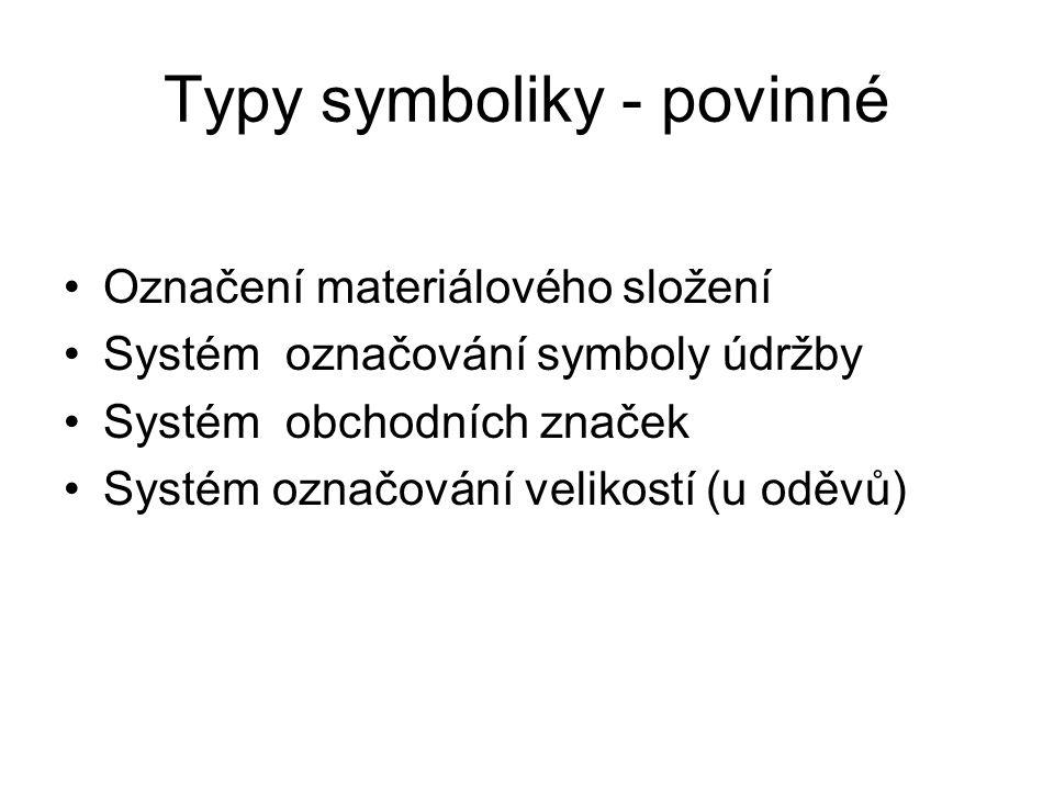 Význam symboliky Jednoduchost sdělení pro běžného uživatele Mezinárodní význam Rychlá orientace Snadné určení použití