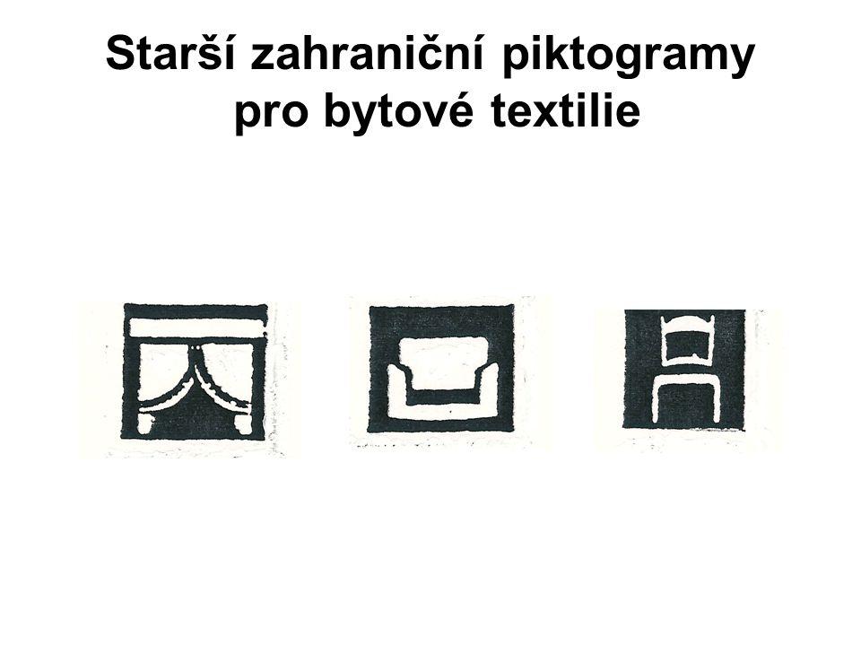 Typy symboliky - nepovinné Systém označování symbolů kvality ČR Označení speciálních vlastností textilií