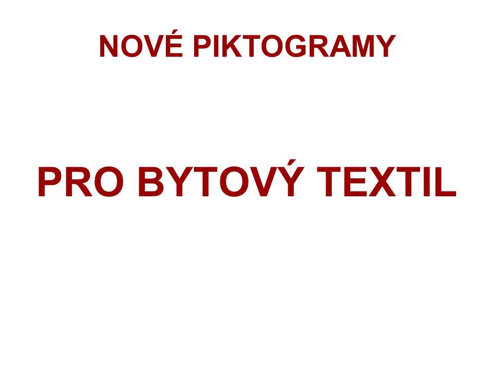 Starší piktogramy pro textilie s náročným použitím