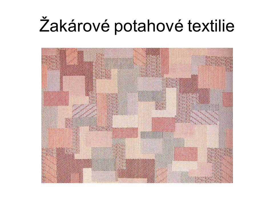 Trendy v potahových textiliích Sklon k používání stejných textilií jako na oděvy Teflonové, nešpinivé úpravy