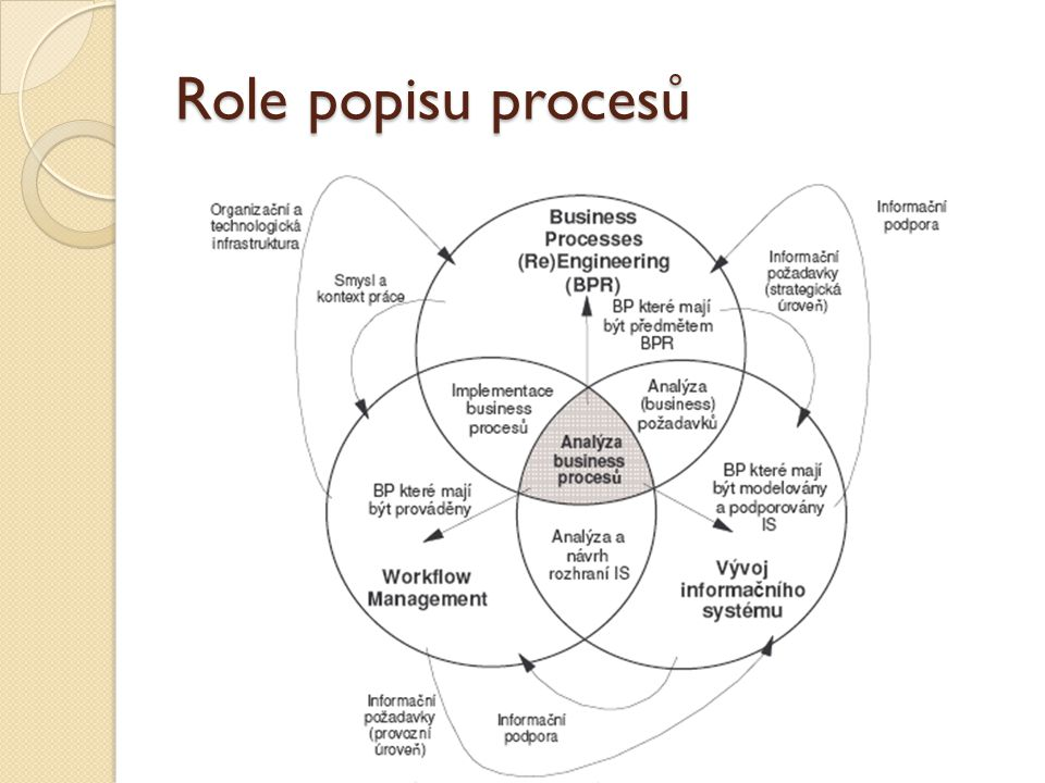 Role popisu procesů