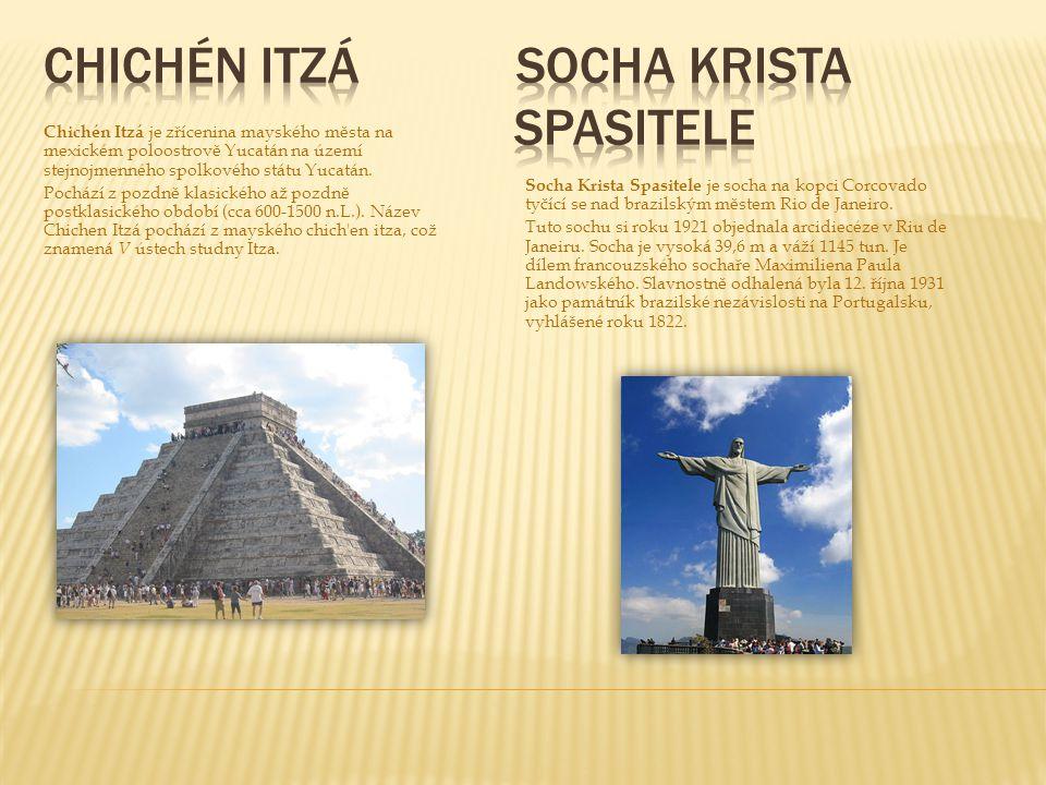 Chichén Itzá je zřícenina mayského města na mexickém poloostrově Yucatán na území stejnojmenného spolkového státu Yucatán. Pochází z pozdně klasického