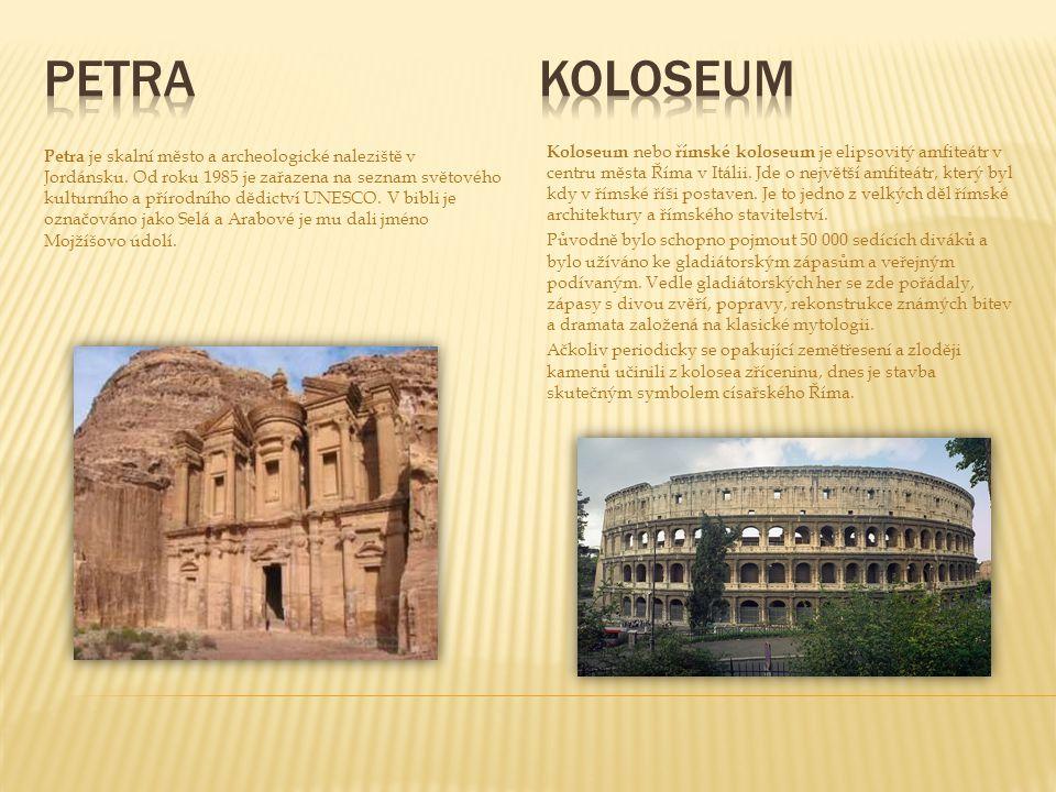 Petra je skalní město a archeologické naleziště v Jordánsku. Od roku 1985 je zařazena na seznam světového kulturního a přírodního dědictví UNESCO. V b