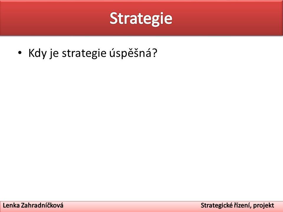 Hierarchie strategií – Podnikatelská strategie – Celopodniková strategie – Strategie SBU – Funkční strategie – Procesní strategie