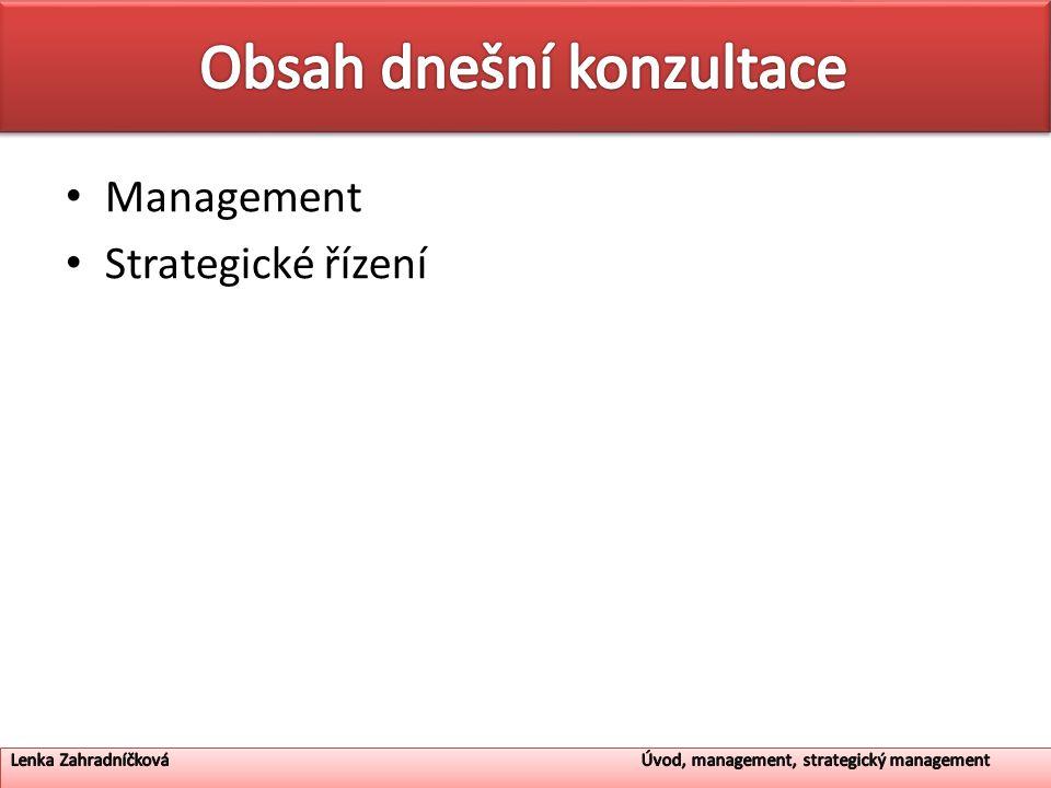 Management Strategické řízení