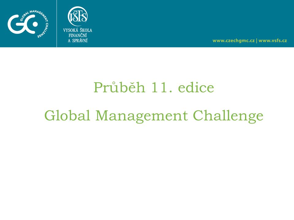 Průběh 11. edice Global Management Challenge
