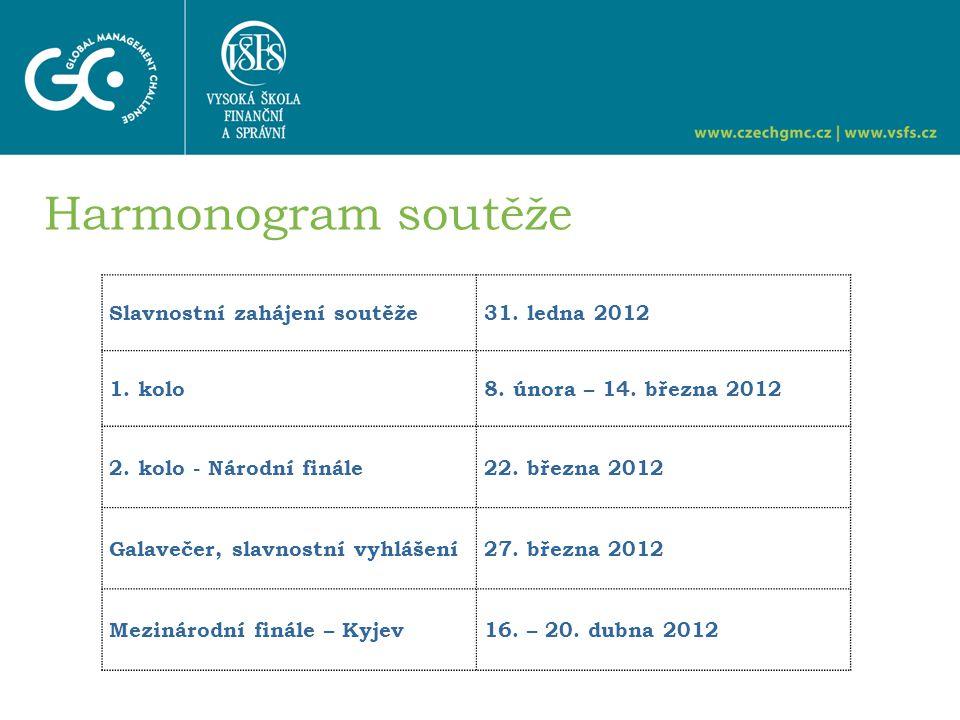 Slavnostní zahájení soutěže31. ledna 2012 1. kolo 8.