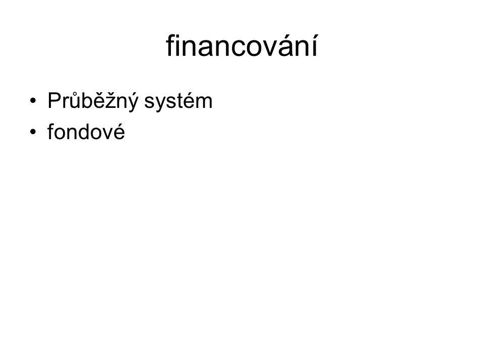 financování Průběžný systém fondové