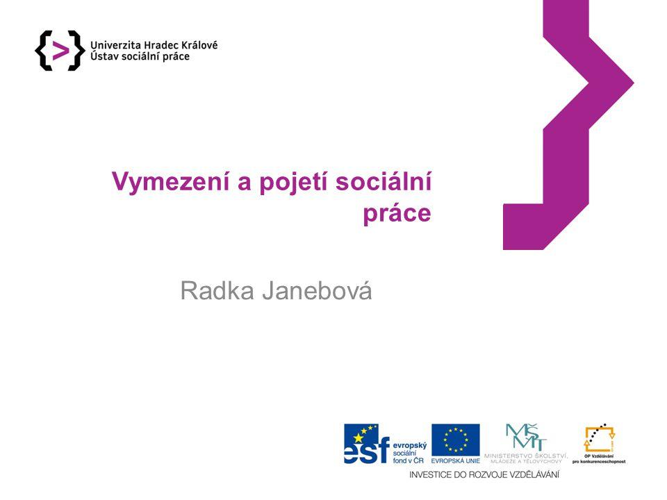 Vymezení a pojetí sociální práce Radka Janebová