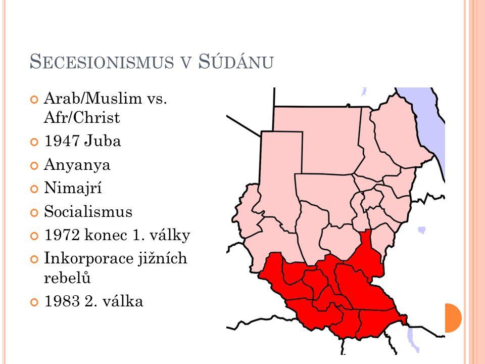 S ECESIONISMUS V S ÚDÁNU Arab/Muslim vs.