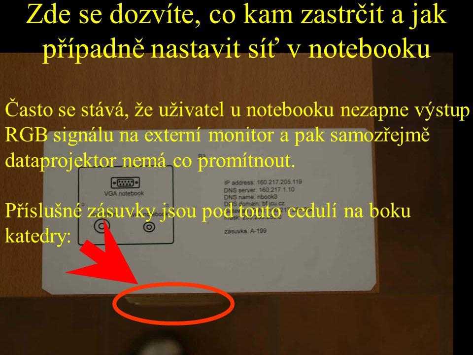 Zde se dozvíte, co kam zastrčit a jak případně nastavit síť v notebooku Často se stává, že uživatel u notebooku nezapne výstup RGB signálu na externí