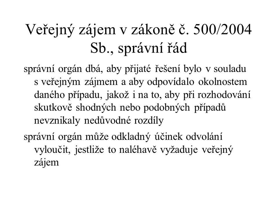 Veřejný zájem v zákoně č.