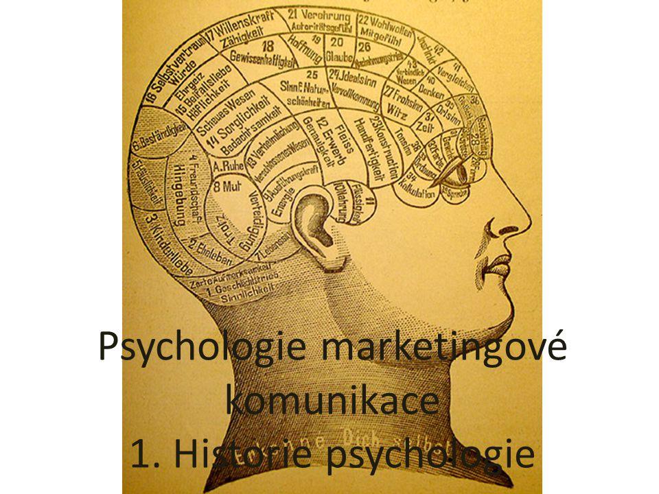 Psychologie marketingové komunikace 1. Historie psychologie