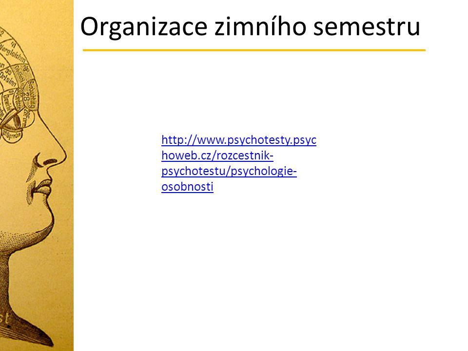 Organizace zimního semestru http://www.psychotesty.psyc howeb.cz/rozcestnik- psychotestu/psychologie- osobnosti http://www.psychotesty.psyc howeb.cz/r