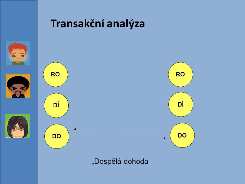 """Transakční analýza RO DÍ DO DÍ DO RO """"Dospělá dohoda"""