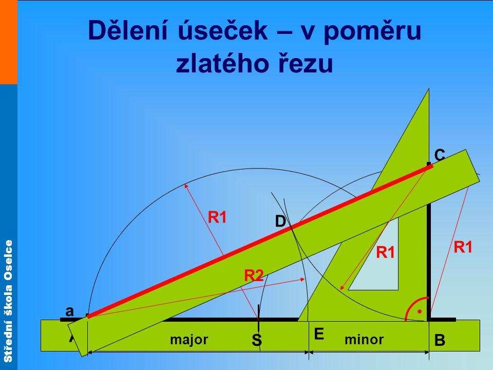 Střední škola Oselce Tětiva je úsečka spojující dva body na kružnici.