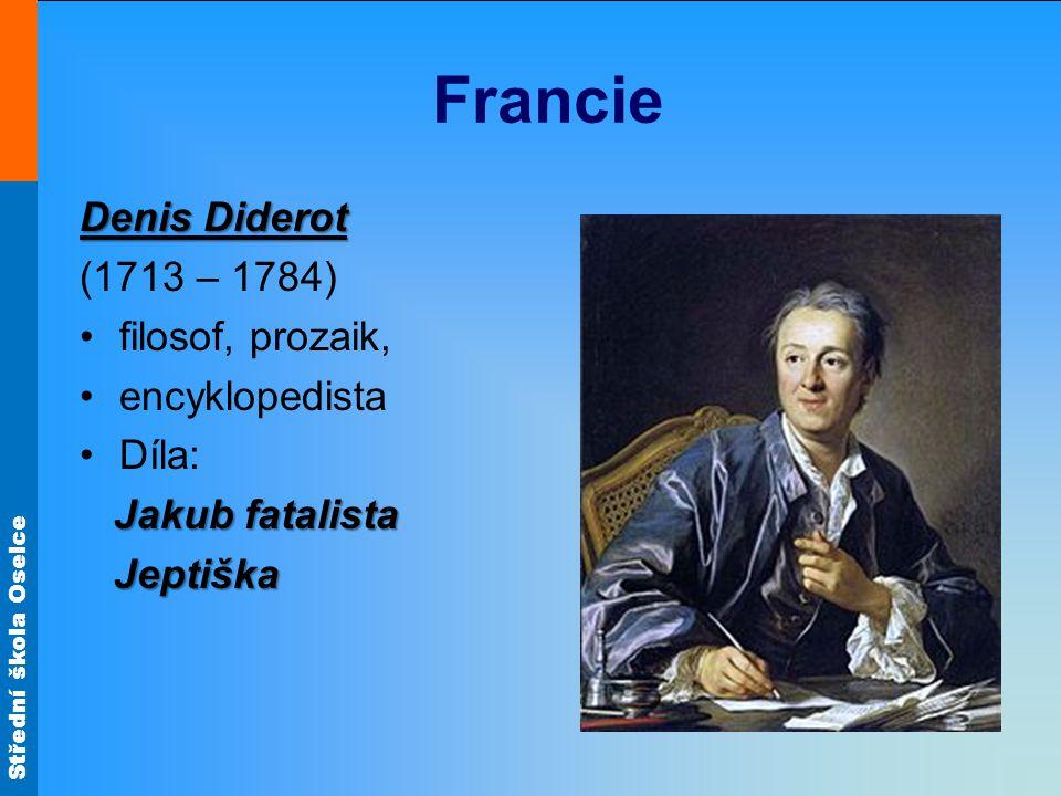 Střední škola Oselce Francie Encyklopedie, Význam pro šíření osvícenských myšlenek mělo vydávání francouzské Encyklopedie, obsahující soubor znalostí ze současné vědy, umění a techniky.