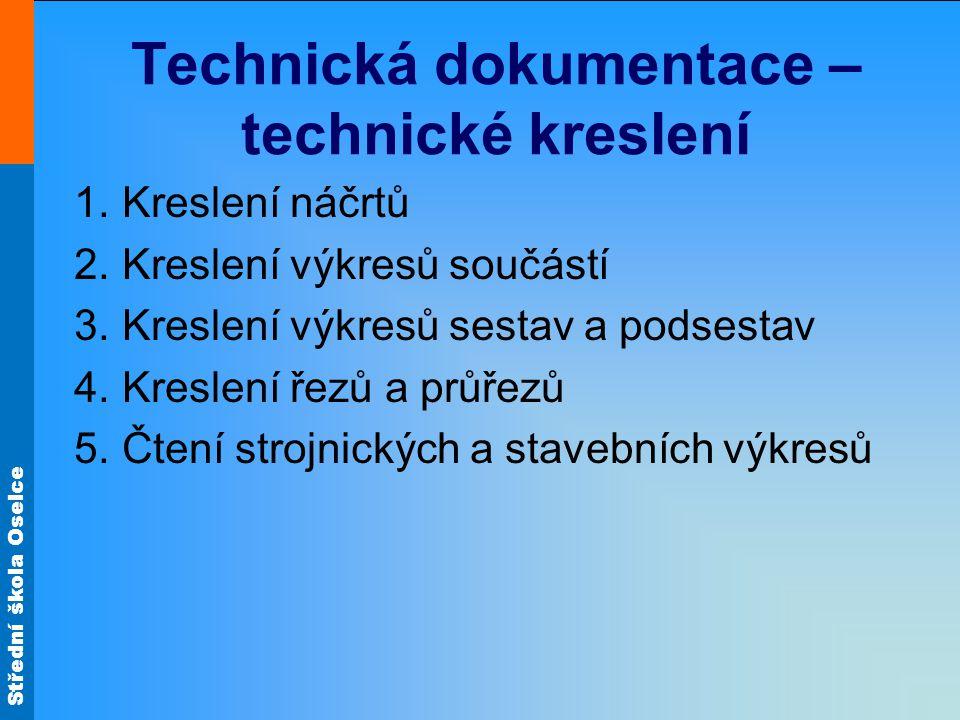 Střední škola Oselce Technická dokumentace – technické kreslení 1.
