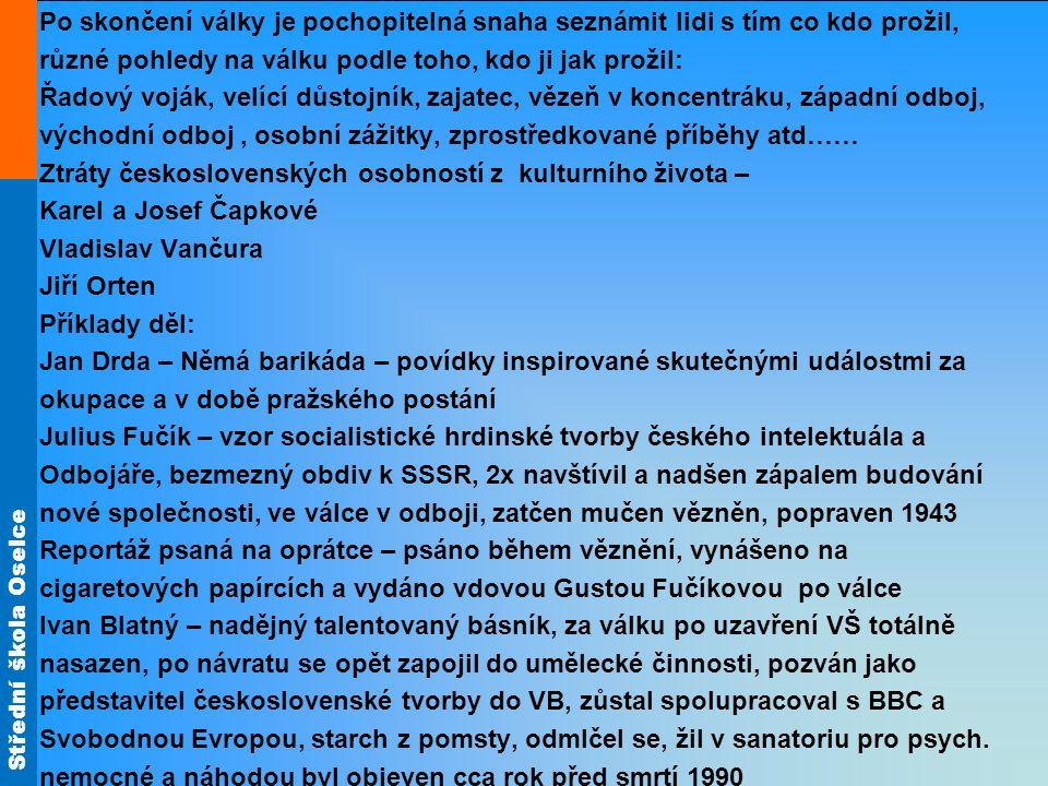Střední škola Oselce Díky J.