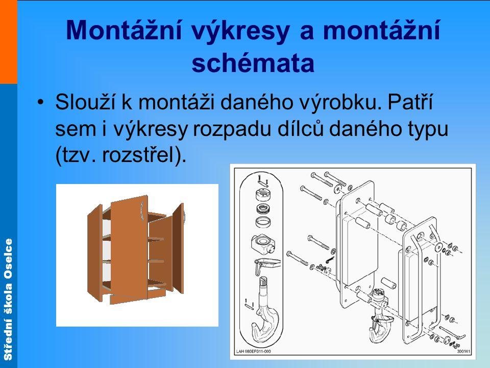 Střední škola Oselce Montážní výkresy a montážní schémata Slouží k montáži daného výrobku.