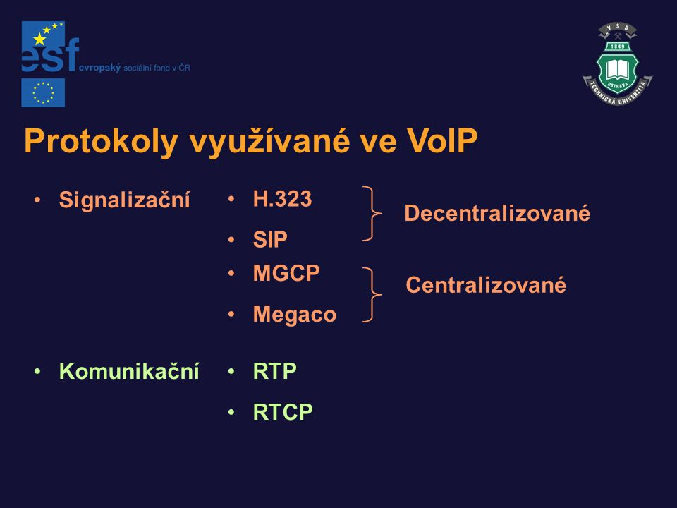 SIP-Session Initiation Protocol SIP je protokol typu client-server, podobný HTTP a SMTP.