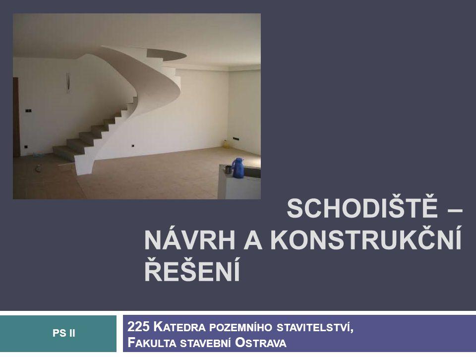 Schodiště – návrh Další požadavky na návrh schodišť: