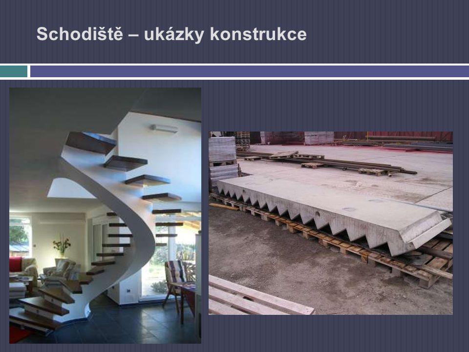 Schodiště – návrh Návrhu schodiště z hlediska požární odolnosti: navrhujeme dle ČSN 73 0802 -Schodiště navrhujeme jako chráněné únikové cesty -Jako nechráněné únikové cesty v objektech kde:  budov nižších než 9m  schodiště spojuje maximálně dvě nadzemní podlaží  schodiště spojuje podzemní a první nadzemní podlaží a lze jej v případě požáru oddělit od ostatních prostor nadzemních podlaží