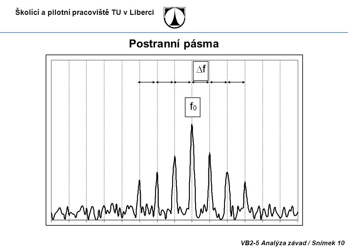 Školící a pilotní pracoviště TU v Liberci VB2-5 Analýza závad / Snímek 10 Postranní pásma