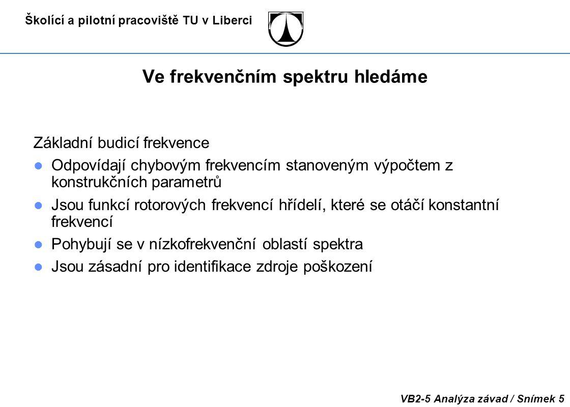 Školící a pilotní pracoviště TU v Liberci VB2-5 Analýza závad / Snímek 16 2. Nevyváženost