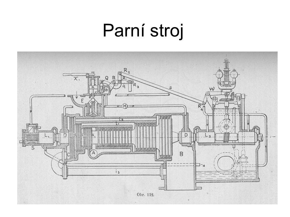 1.Parní stroje Parní stroj je nejstarší tepelný motor.