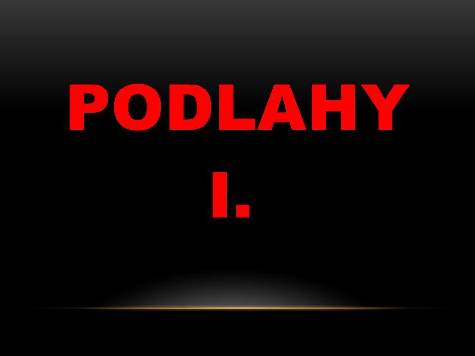 PODLAHY I.