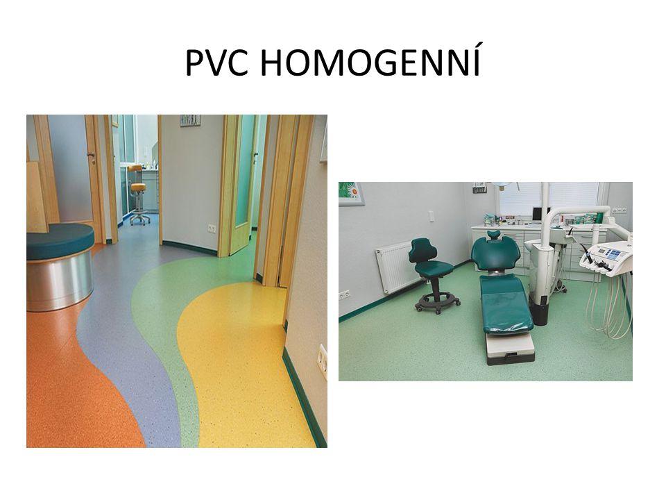 Struktura homogenní PVC podlahové krytiny