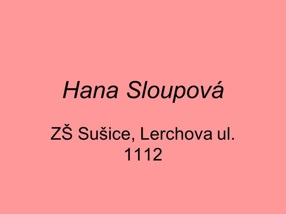 Hana Sloupová ZŠ Sušice, Lerchova ul. 1112