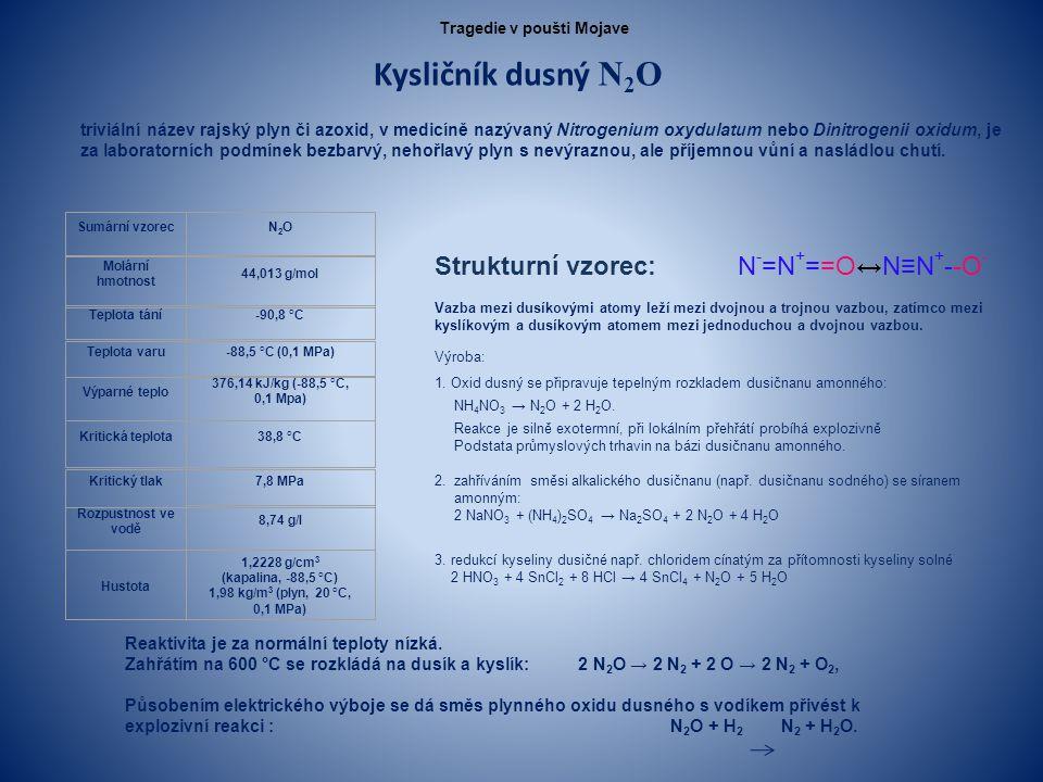 Kysličník dusný N 2 O triviální název rajský plyn či azoxid, v medicíně nazývaný Nitrogenium oxydulatum nebo Dinitrogenii oxidum, je za laboratorních podmínek bezbarvý, nehořlavý plyn s nevýraznou, ale příjemnou vůní a nasládlou chutí.