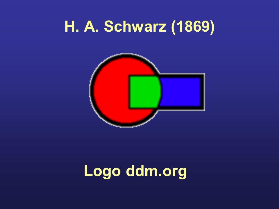 H. A. Schwarz (1869) Logo ddm.org