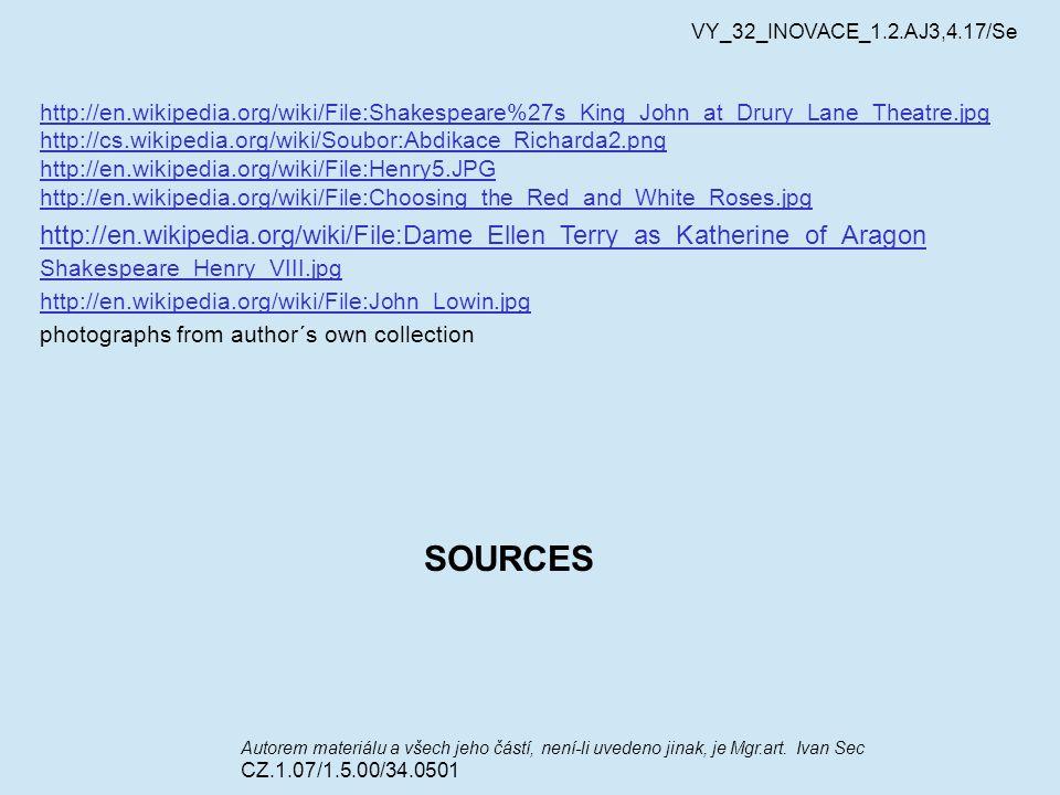 VY_32_INOVACE_1.2.AJ3,4.17/Se Autorem materiálu a všech jeho částí, není-li uvedeno jinak, je Mgr.art. Ivan Sec CZ.1.07/1.5.00/34.0501 http://en.wikip