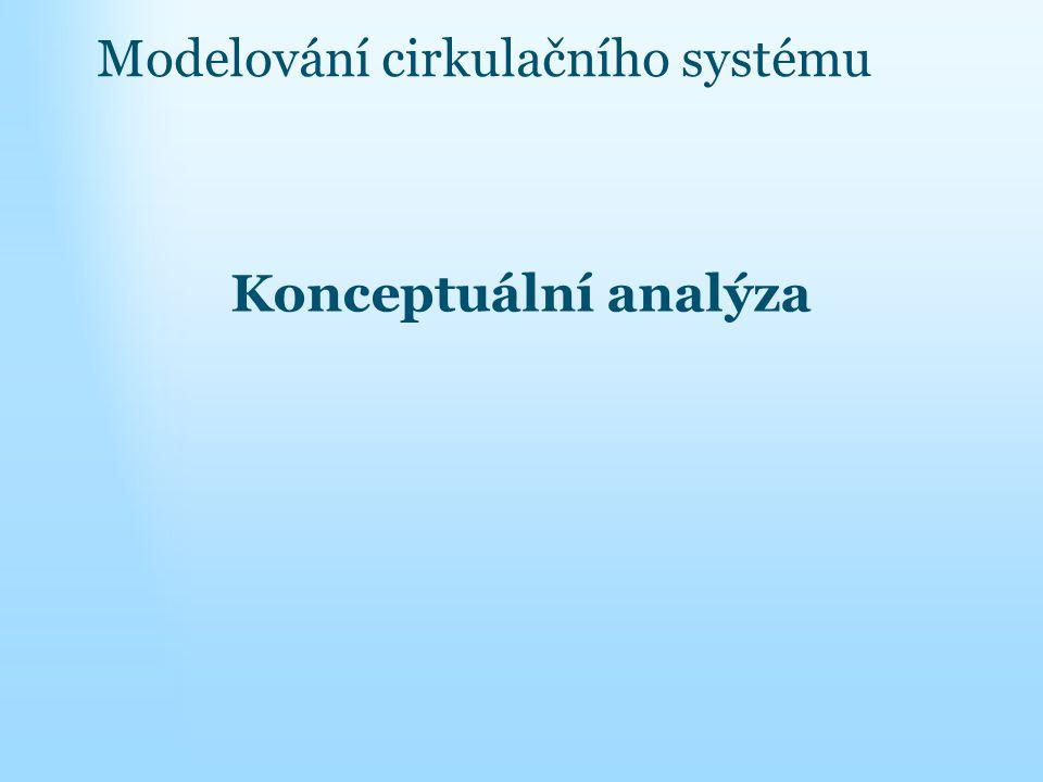 Modelování cirkulačního systému Konceptuální analýza