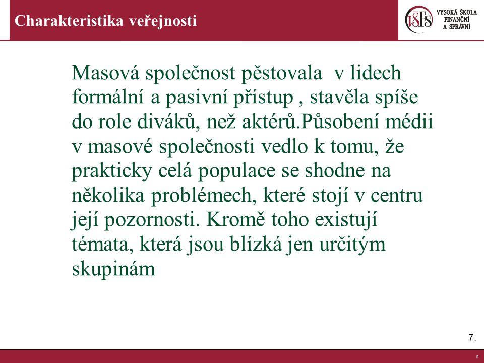 8.8.r Charakteristika veřejnosti Analýzy na konci 20.
